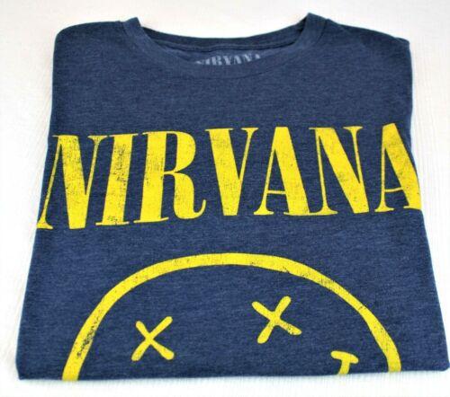 Nirvana Happy Smile Blue/Yellow T-Shirt - Men's Si
