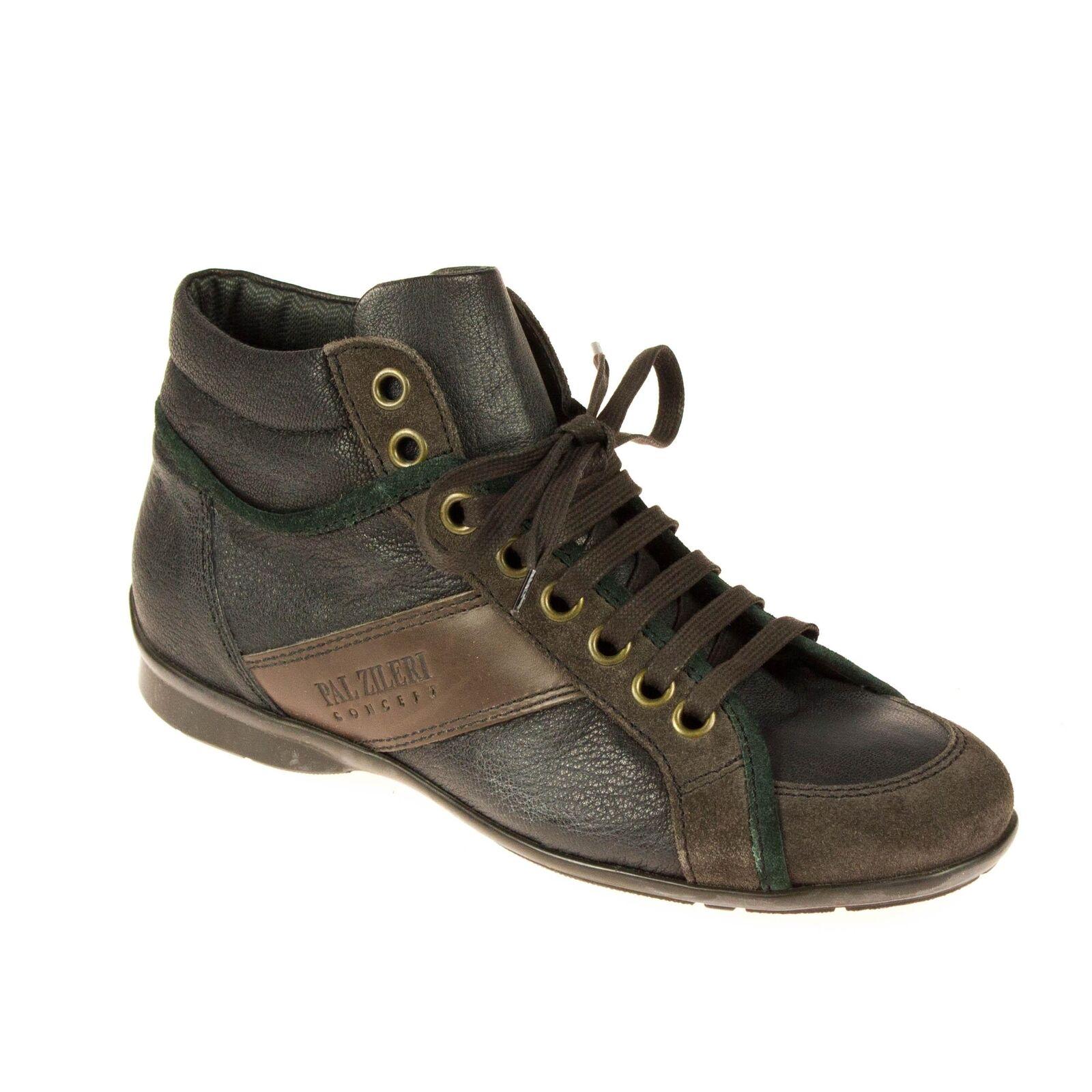 Pal Zileri Zileri Zileri Herren Sneaker High Top Leder Schwarz 92c07a