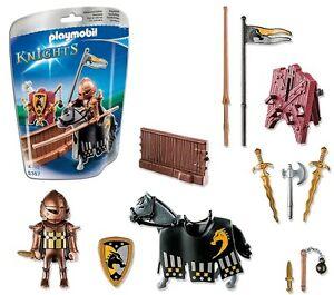 Playmobil-Knights-Ref-5357-Caballero-Medieval-con-Caballo-y-Armas-Justa-NUEVO
