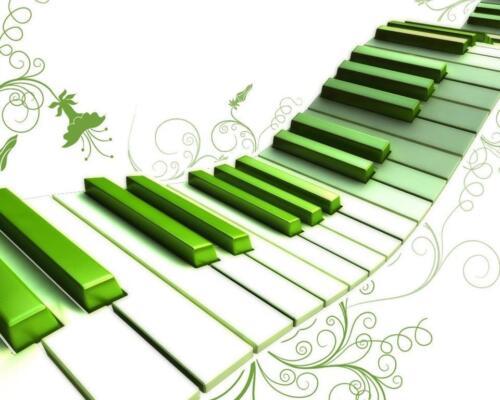 Compleanno MUSICA Cialda ostia torta Pianoforte