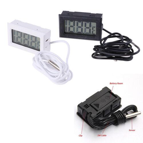 1Pc Digital LCD Display Thermometer Temperature Meter Temp Sensor With ProbeJ gc