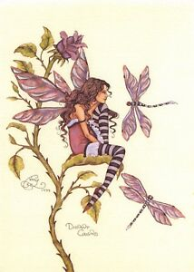 Postcard-Amy-Brown-Gothic-Fairy-DISTANT-COUSINS-1999-Art-Print-Collectable