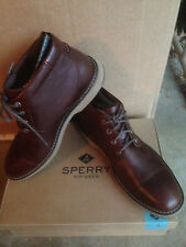 NIB Men's Sperry Commander Chukka Boots Leather Brown Shoes Size 10.5 M MSRP$150