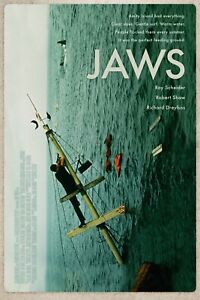 1975 Jaws Movie Poster/Print > Martin Brody > Quint > Great White Shark 🦈🍿