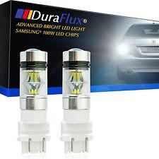 DuraFlux 100W High Power 3157 3156 LED Backup Reverse Light Bulbs Samsung White