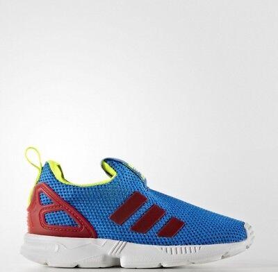 Adidas Originals Zx Flux Neonati Bambini Unisex Ragazzi Ragazze Sneakers Slip On- Elegante Nell'Odore
