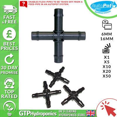 6mm/16mm Autopot Croce Connettore-qtà: 1/5/10/20/50 - Parti Di Sistema Di Coltura Idroponica-