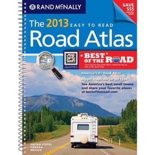USA, Road Atlas, Midsize Easy To Read, Spiral Bound 2013 [Rand Mcnally Road Atla