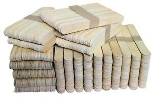 Dimensione-Jumbo-semplice-in-legno-Lolly-Pop-Craft-Bastoncini-150mm-x-18mm-UK-Venditore