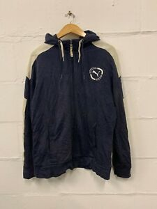Vintage-PUMA-Small-Logo-Hoodie-Sweatshirt-Full-Zip-Jumper-Navy-Medium-M