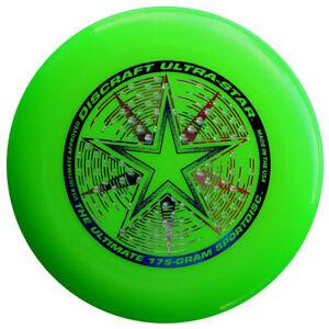NG - Discraft Ultimate Frisbee Ultrastar 175g GRÜN Wettkampf/Freizeit Scheibe