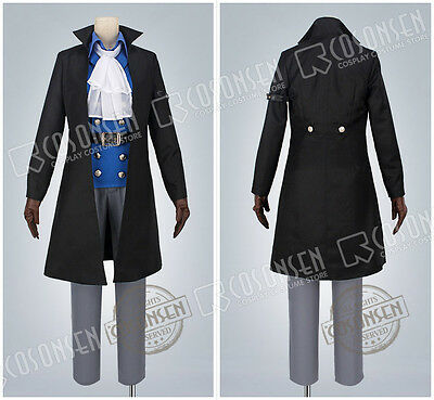 Cosonsen One Piece Sabo Cosplay Costume With Hat Full Set All Size Custom Made