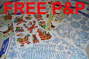 GREAT-REUSABLE-CHRISTMAS-WINDOW-STICKERS-DECOR-SNOWMAN-SNOWFLAKE-CHRISTMASTREE