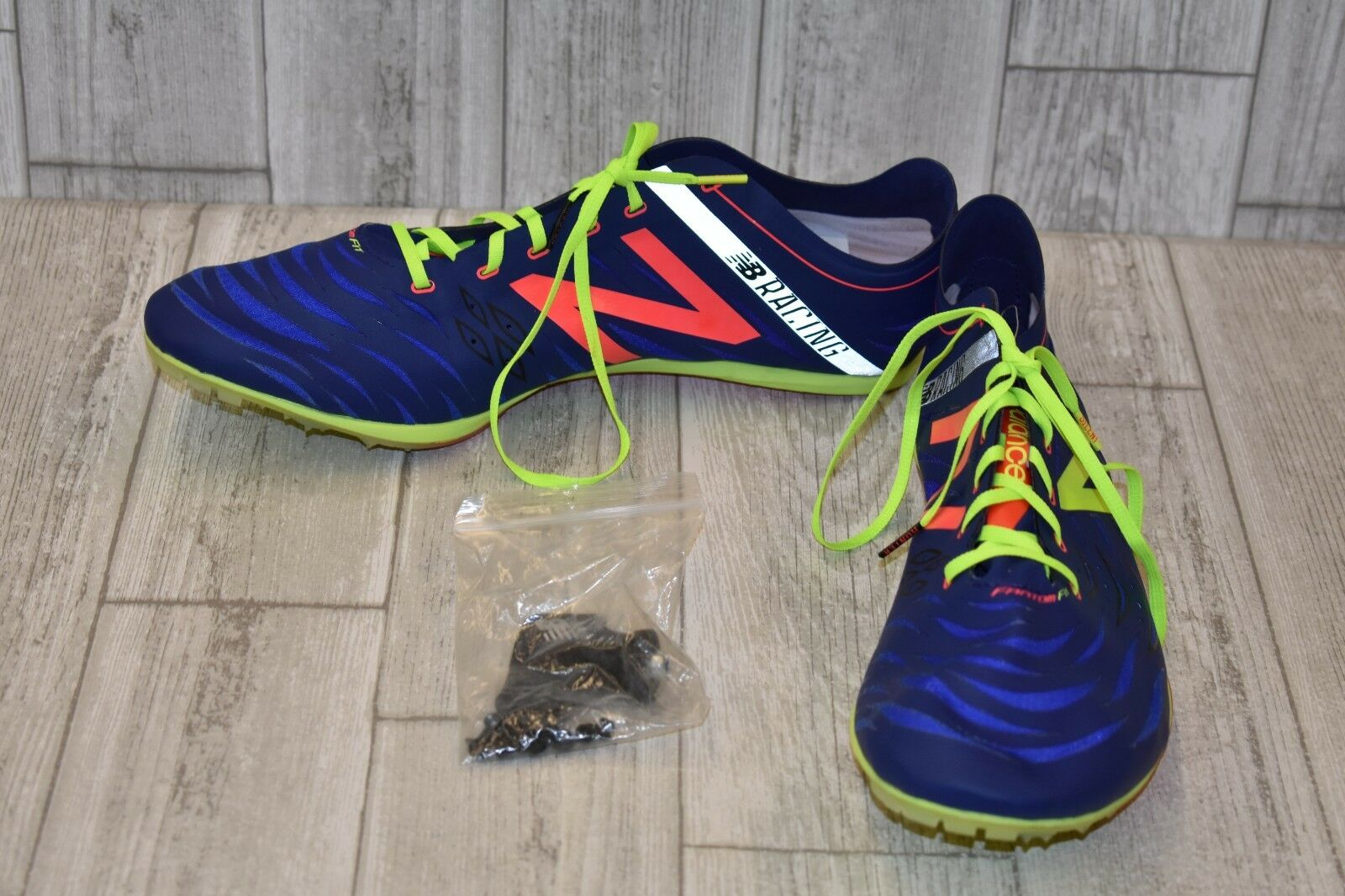 New Balance MD800 v4 Spike Racing Racing Racing scarpe, Uomo Dimensione 14D, blu Citron Coral 614be4