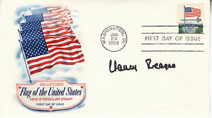 NANCY-REAGAN-hand-signed-1968-Flag-of-the-US-FDC-first-day-cover-autographed