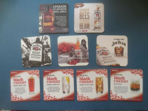 9 different JIM BEAM Distillery Australian  Issue collectable COASTERS A