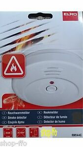 8-x-Rauchmelder-RM144C-ELRO-EN14604-Batterie-Rauchwarnmelder-Feuermelder-NEU