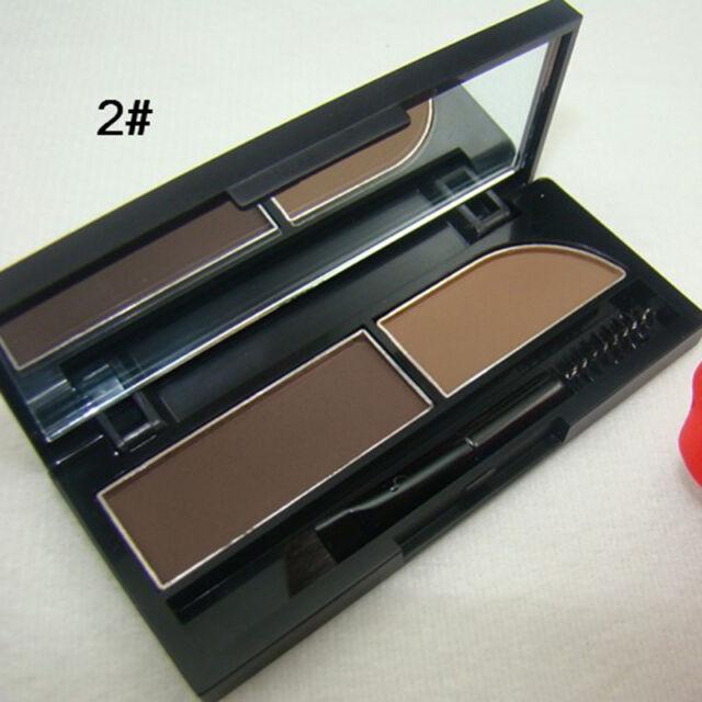 2 Colors Girls  Makeup Shiny  Eye shadow Eyebrow Eye Brow Powder Palette Pop*