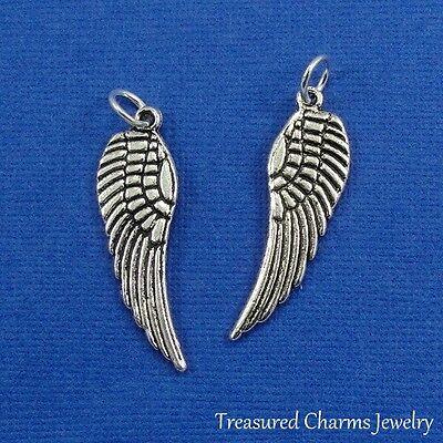 Silver ANGEL WING CHARM Prayer Faith Wings PENDANT