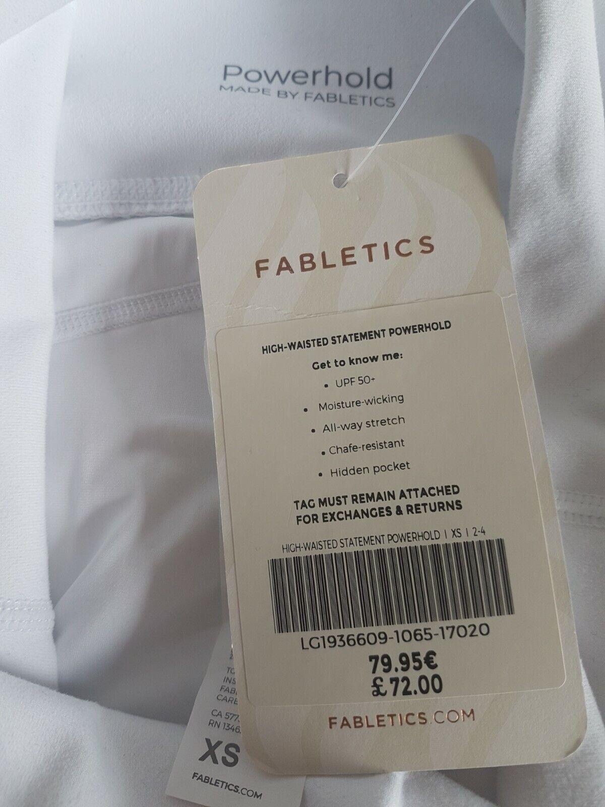 Fabletics Leggings XS/8 BNWT POWERHOLD LOGO *SEE DESCRIPTION FIRST*