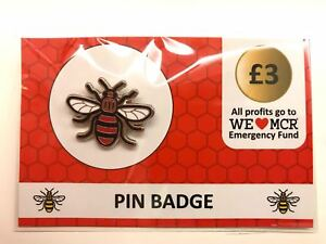 Image Is Loading Official Manchester Bee Pin Badge ALL PROCEEDS TO