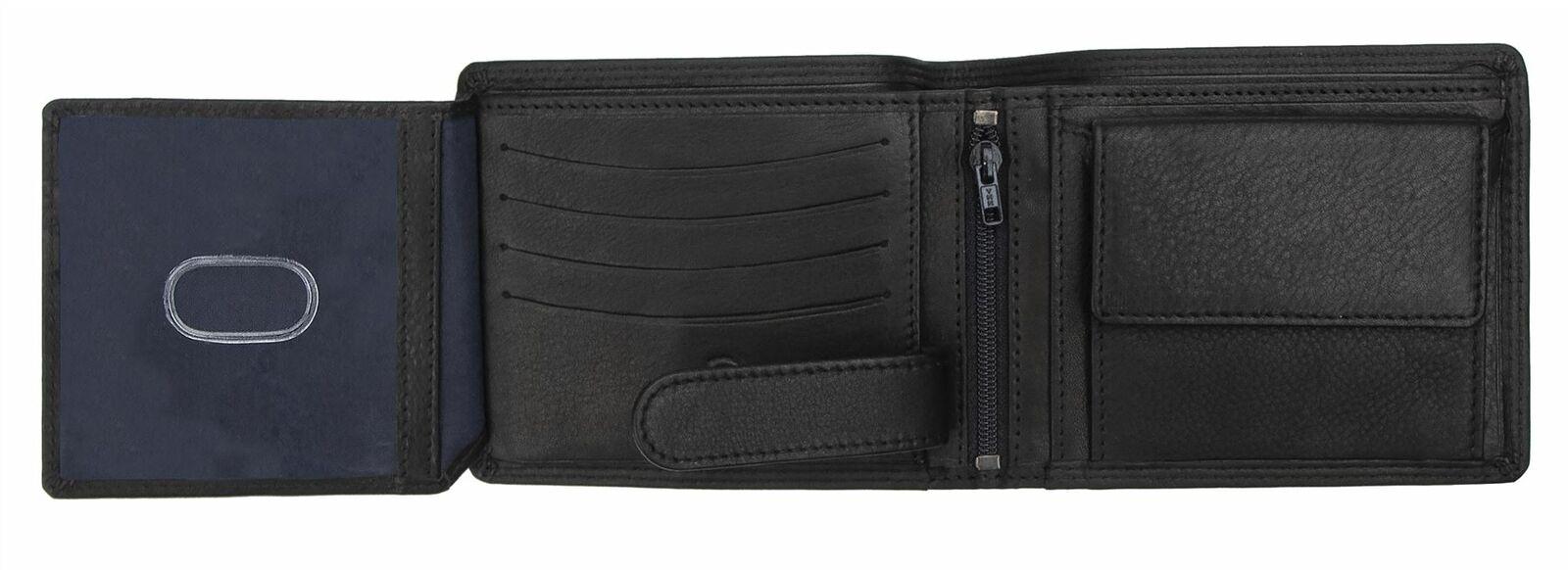Primhide Mens Leather RFID Blocking Wallet Gents Notecase Card Holder 3898