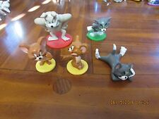 Lot of 5 Tom and Jerry Pvc Figures & 2 DVDs w/Shiver Me Whiskers