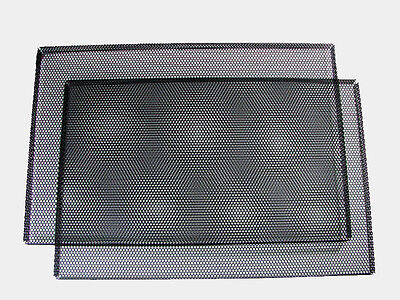 "Pair Custom 7"" x 14"" x 1/2""  Perforated Steel Speaker Grills W/ Mounting Screws"
