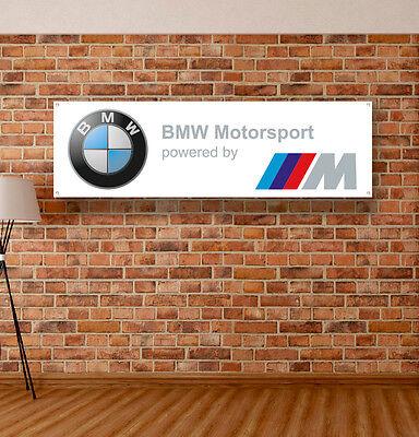 Bmw Logo Motorsport Vinyl Banner Schild Garage Shop Adversting Flagge Poster Auto Ebay