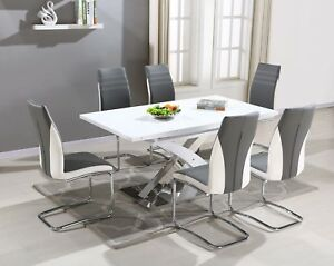 Beautiful Image Is Loading Pescara High Gloss Dining Table Set And 6