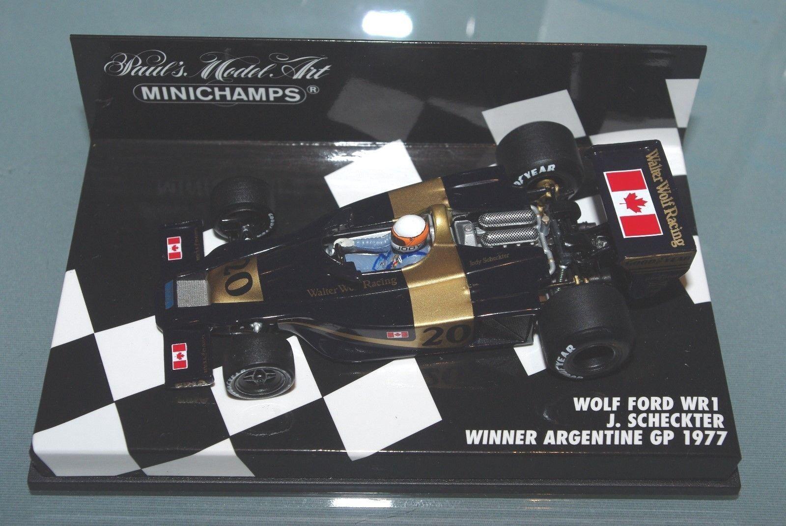 60% de descuento Minichamps Ford Lobo Lobo Lobo F1 1 43 WR1 Jody Scheckter Ganador GP 1977 plataino  precios bajos
