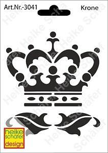 Schablone-Stencil-A6-159-3041-Krone-Neu-Heike-Schaefer-Design