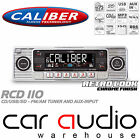 Classic Retro 4x75W CD MP3 USB SD AUX In Car Stereo Radio Player SILVER RCD110S