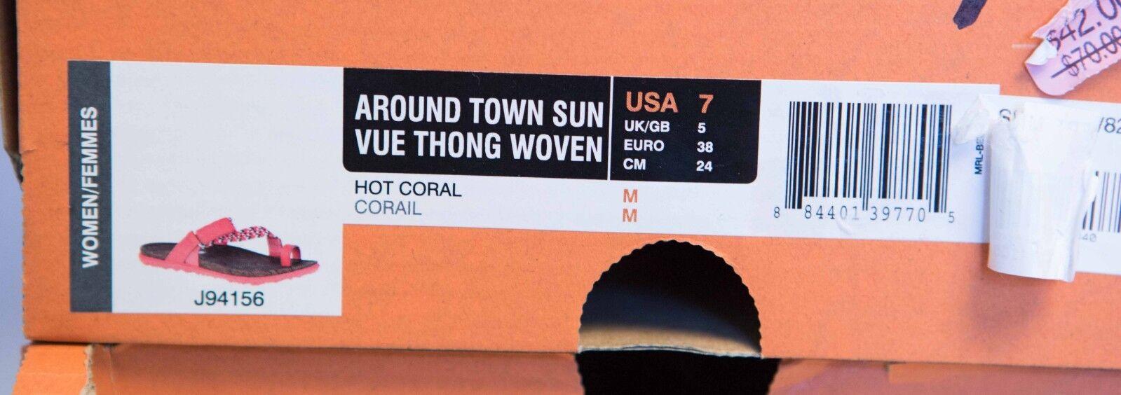 Merrell Around Korallenrot Town Sunvue Tanga Gewoben Damen Hot Korallenrot Around Größe 7, 8 dfab0b