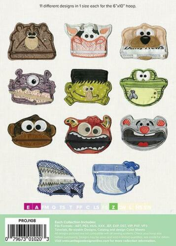 Face Pocket Purses Anita Goodesign Embroidery Machine Design CD NEW