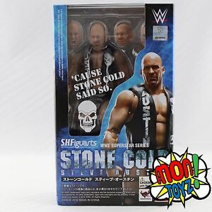 NEW-Bandai-SH-Figuarts-WWE-Superstar-Stone-Cold-Steve-Austin-Action-Figure