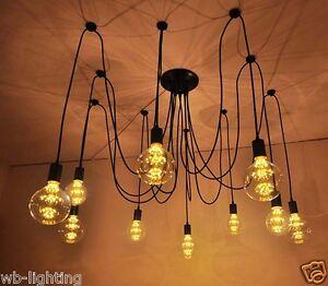 industrial chandelier lighting. Image Is Loading Retro-Vintage-Industrial-Chandelier-Pendant-Light-Ceiling- Lamp- Industrial Chandelier Lighting