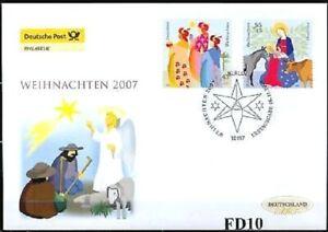 Rfa-2007-Noel-Post-Fdc-No-2626-2627-Timbre-Special-de-Berlin-1A-2001