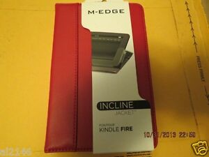 Details About M Edge Incline Jacket Folio Stand Case For Kindle Fire Red Free Shipping