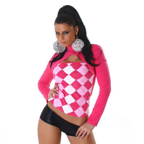 Damen Pullover Pulli Langarm-Shirt Rollkragen Karo kariert 34 36 38 40