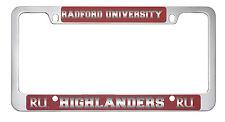 Radford University -Metal License Plate Frame-Red