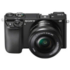 A - Sony Alpha A6000 Digital Camera with 16-50mm PZ Lens: Black