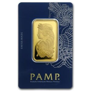 1-oz-Gold-Bar-PAMP-Suisse-Lady-Fortuna-Veriscan-In-Assay