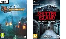 Abyss The Wraiths of Eden & shutter island the adventure game  new&sealed
