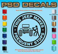 Jeep Decals Jeep WRANGLER Window Decal Sticker Rubicon Sahara #08