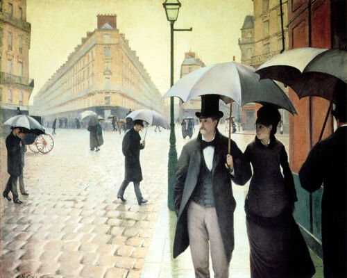 Paris Street Rainy Day 1877  by Gustave Caillebotte 16X20 Poster FREE SH