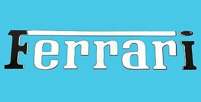 Ferrari Metallic Chrome Effect Sticker Logo Aufkleber 55x12mm