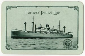 Playing-Cards-1-Single-Card-Old-FURNESS-PRINCE-LINE-Shipping-Advertising-Art-2