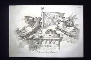 Incisione-d-039-allegoria-e-satira-Romagna-dominio-Pio-IX-Bologna-Don-Pirlone-1851