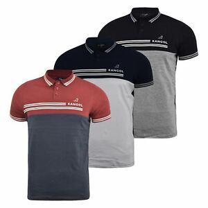Mens-Polo-Shirt-kangol-Short-Sleeve-T-Shirt-Top-West